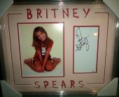 Britney Spears Music Star Jsa Coa Signed Autograph Photo Double Matted Framed F