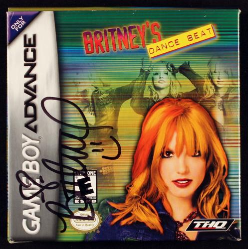 Britney Spears Signed 2002 Britney's Dance Beat Game Boy Box JSA B
