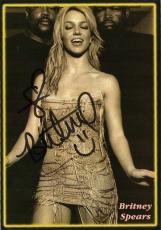 Britney Spears signed autographed 4.5x6.5 photo! Vintage Signature! JSA COA!