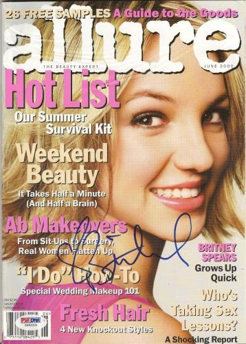 Britney Spears Signed Autographed Allure June 2000 Magazine PSA/DNA #Z64215