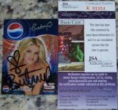 BLOWOUT SALE VERY RARE Britney Spears Signed Autographed Photo Card JSA COA!
