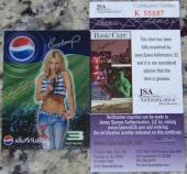 BLOWOUT SALE Britney Spears Signed Autographed Photo Card JSA COA EXTREMELY RARE
