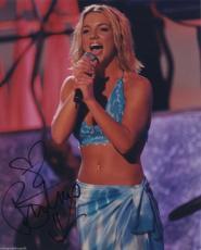 Britney Spears Signed Color Photo Jsa Coa Loa Rare Rare Rare!!!!!