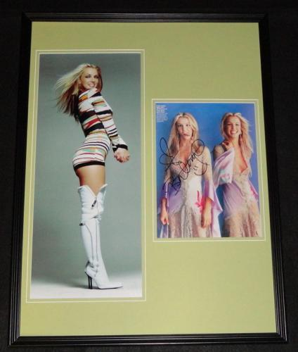 Britney Spears Signed Framed 18x24 Photo Poster Display JSA