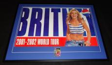 """Britney Spears Signed Framed 31x41"""" 2001 Pepsi Tour Poster Display JSA"""