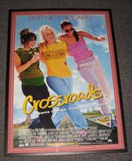 Britney Spears Signed Framed HUGE 30x41 Crossroads Movie Poster Display AW