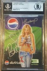 Britney Spears Signed Pepsi Trading Card JSA + BAS Beckett Authentic Autograph