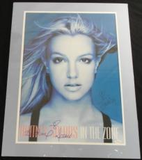 Britney Spears Signed Poster In The Zone Double Matted 22x28 Jsa Coa #k11979