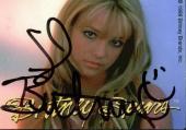 Britney Spears Signed Vintage Trading Card  Autographed JSA