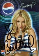 Britney Spears Vintage Signed Pepsi Trading Card JSA #K55374