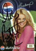 Britney Spears Vintage Signed Pepsi Trading Card JSA #K55690