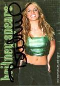 Britney Spears Vintage Signed Trading Card Autographed JSA #K55649