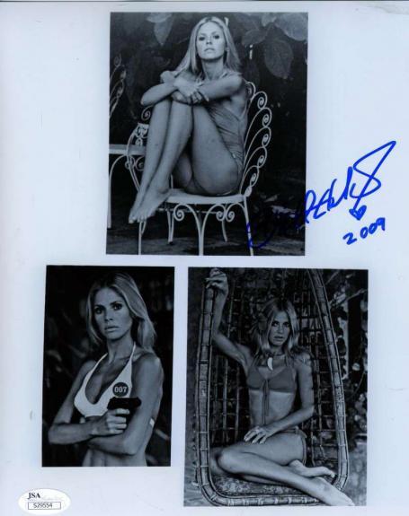 Britt Ekland Jsa Hand Signed James Bond 8x10 Photo Authentic Autograph