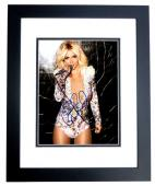 Brittany Spears Signed - Autographed Sexy Singer 8x10 inch Photo BLACK CUSTOM FRAME - Guaranteed to pass PSA or JSA