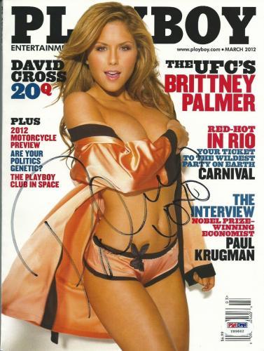 Brittney Palmer Signed March 2012 Playboy Magazine PSA/DNA COA UFC MMA Autograph