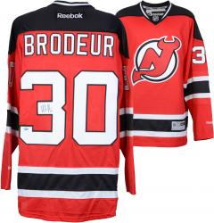 Martin Brodeur New Jersey Devils Autographed Reebok Replica Red Jersey