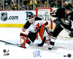 "Martin Brodeur New Jersey Devils Autographed 16"" x 20"" vs. Sidney Crosby Photograph"