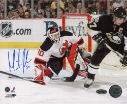 "Martin Brodeur New Jersey Devils Autographed 8"" x 10"" vs. Sidney Crosby Photograph"