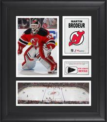 Martin Brodeur New Jersey Devils Framed 15'' x 17'' Collage with Game-Used Puck-Limited Edition of 500 - Mounted Memories