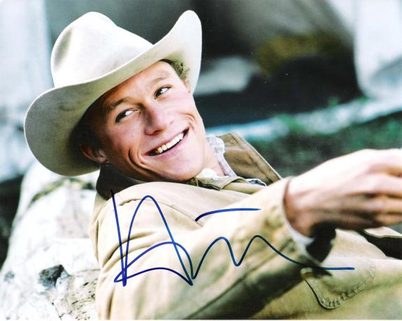 """Signed Photo - BROKEBACK MOUNTAIN"""" HEATH LEDGER as MAR Passed Away 2008 10x8 Color"""