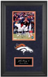 John Elway Denver Broncos Deluxe Vertical 8'' x 10'' Team Logo Frame with Team Logo - Mounted Memories