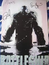 Brooklyn Decker & Alexander Skarsgard signed auto Battleship 2012 movie poster