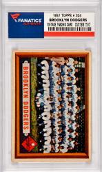 Brooklyn Dodgers Team 1957 Topps #324 Card Featuring Roy Campanella & Duke Snider