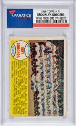 Brooklyn Dodgers Team 1958 Topps #71 Card 2  with Roy Campanella-Sandy Koufax-Duke Snider