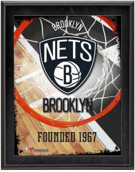 "Brooklyn Nets Team Logo Sublimated 10.5"" x 13"" Plaque"
