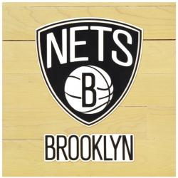 "Brooklyn Nets Courtllectible 12"" x 12"" Floor Piece with Logo"