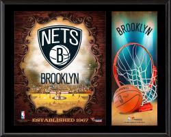 "Brooklyn Nets Sublimated 12"" x 15"" Team Logo Plaque"