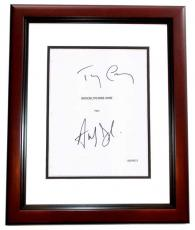 BROOKLYN NINE-NINE Signed - Autographed PILOT Script Cover by Andy Samberg and Terry Crews MAHOGANY CUSTOM FRAME - Guaranteed to pass PSA or JSA