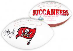 Derrick Brooks Tampa Bay Buccaneers Autographed White Panel Football