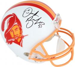 Derrick Brooks Signed Helmet - Riddell Replica Throwback Mounted Memories Mounted Memories