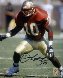 "Derrick Brooks Florida State Seminoles Autographed 8"" x 10"" Stance Photograph"