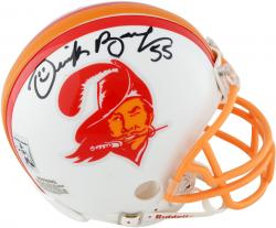 Derrick Brooks Tampa Bay Buccaneers Autographed Riddell Throwback Mini Helmet - Mounted Memories