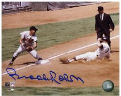 "Brooks Robinson Baltimore Orioles Autographed 8"" x 10"" Tagging Mantle Photograph"