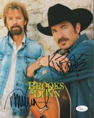 BROOKS+DUNN HAND SIGNED 8x10 COLOR PHOTO       COUNTRY MUSIC STARS       JSA