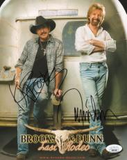 BROOKS+DUNN HAND SIGNED 8x10 COLOR PHOTO     SIGNED BY BOTH     LAST RODEO   JSA