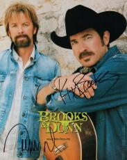 BROOKS+DUNN HAND SIGNED 8x10 COLOR PHOTO+COA       GREAT COUNTRY MUSIC SINGERS