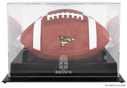 Brown Bears Black Base Team Logo Football Display Case with Mirror Back