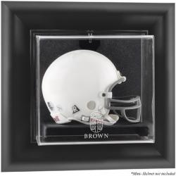 Brown Bears Black Framed Wall-Mountable Logo Mini Helmet Display Case