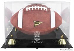 Brown Bears Golden Classic Logo Football Display Case with Mirror Back - Mounted Memories