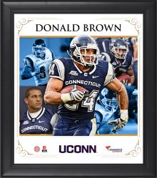 "Donald Brown UConn Huskies Framed 15"" x 17"" Core Composite Photograph"