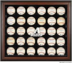 Arizona Diamondbacks Logo Brown Framed 30-Ball Display Case -