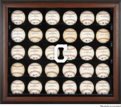 Cleveland Indians Logo Brown Framed 30-Ball Display Case