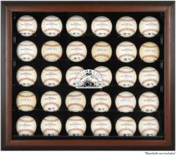 Colorado Rockies Logo Brown Framed 30-Ball Display Case - Mounted Memories