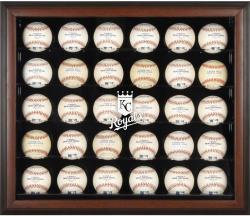 Kansas City Royals Logo Brown Framed 30-Ball Display Case