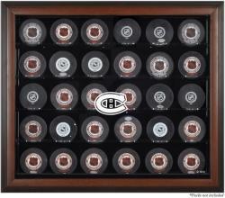 Montreal Canadiens 30-Puck Brown Display Case