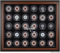 Washington Capitals 30-Puck Brown Display Case - Mounted Memories